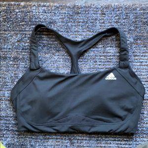 Adidas black sports bra size s